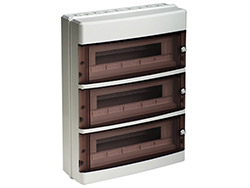 Coffret modulaire en saillie - IP65<br> 3 x 18 modules - 401 x 550 x 148 mm