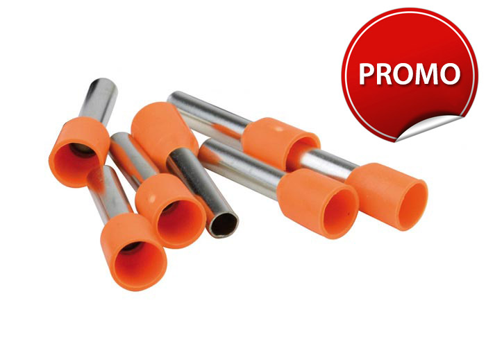 Embout de cablage orange<br> 4 mm²
