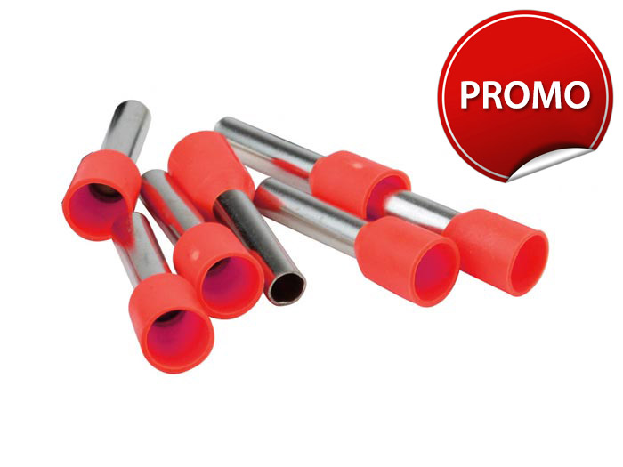 Embout de cablage rouge<br> 1 mm²