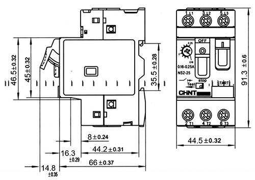 disjoncteur magn u00e9to-thermique tripolaire ns8-25 6-10 a