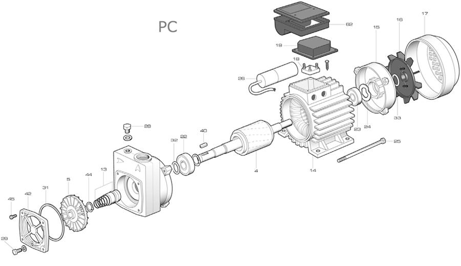 pompe de transfert - canal lat u00e9ral - pc 80 monophas u00e9e 230 v - auto-amor u00e7ante