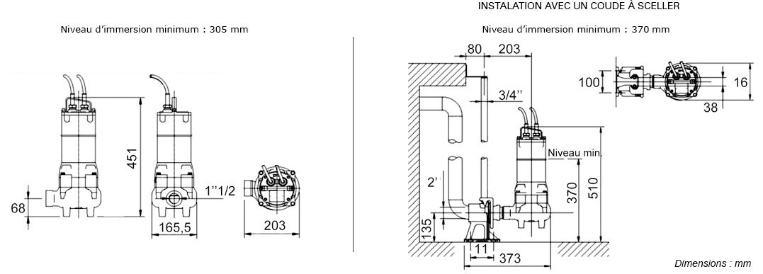 pompe de relevage eau charg e rw 1508 2ma monophas 230 v 0 6 kw automatique. Black Bedroom Furniture Sets. Home Design Ideas